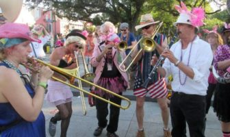 New Orleans' French Quarter hosts three parades on Easter Sunday.